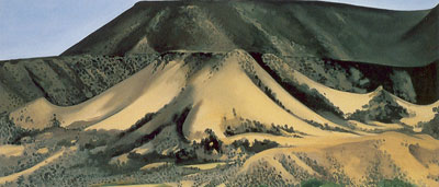 Georgia OKeeffe, Abiquiu Sand Hills and Mesa Fine Art Reproduction Oil Painting