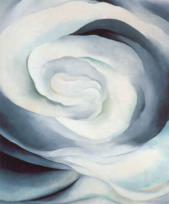 Georgia OKeeffe, Abstraction White Rose Fine Art Reproduction Oil Painting