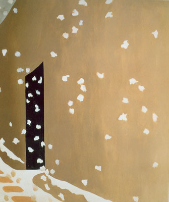 Georgia Okeeffe, Black Door with Snow Fine Art Reproduction Oil Painting