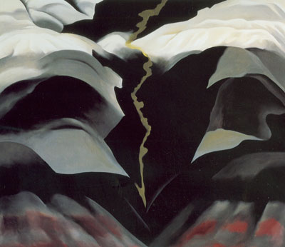 Georgia OKeeffe, Black Place III Fine Art Reproduction Oil Painting