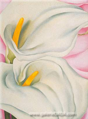 Georgia OKeeffe, Calla Lilies in Pink Fine Art Reproduction Oil Painting