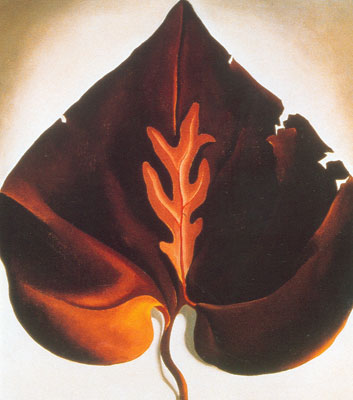 Georgia OKeeffe, Dark & Lavender Leaves Fine Art Reproduction Oil Painting