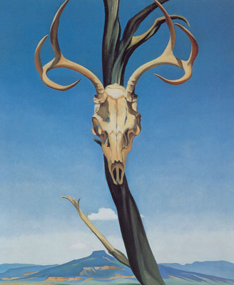Georgia OKeeffe, Dears Skull with Pedernal Fine Art Reproduction Oil Painting
