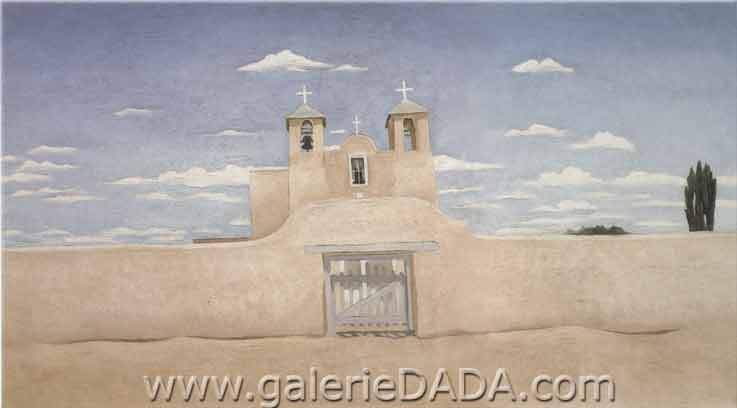 Georgia OKeeffe, Front of Ranchos Church Fine Art Reproduction Oil Painting