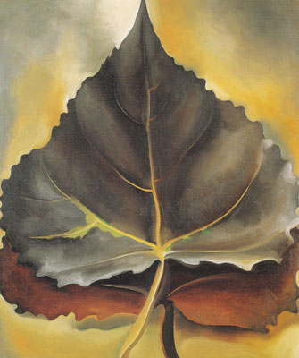 Georgia OKeeffe, Grey & Brown Leaves Fine Art Reproduction Oil Painting