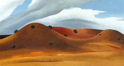 Georgia OKeeffe, Grey Hills Painted Red Fine Art Reproduction Oil Painting