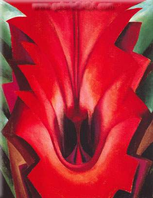Georgia OKeeffe, Inside Red Canna Fine Art Reproduction Oil Painting
