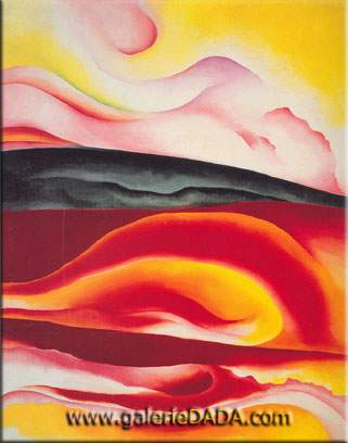 Georgia OKeeffe, Red Yellow and Black Streak Fine Art Reproduction Oil Painting