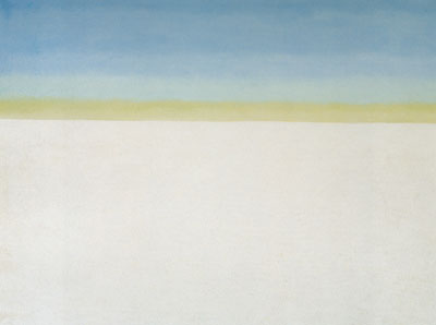 Georgia OKeeffe, Sky with Flat White Cloud Fine Art Reproduction Oil Painting