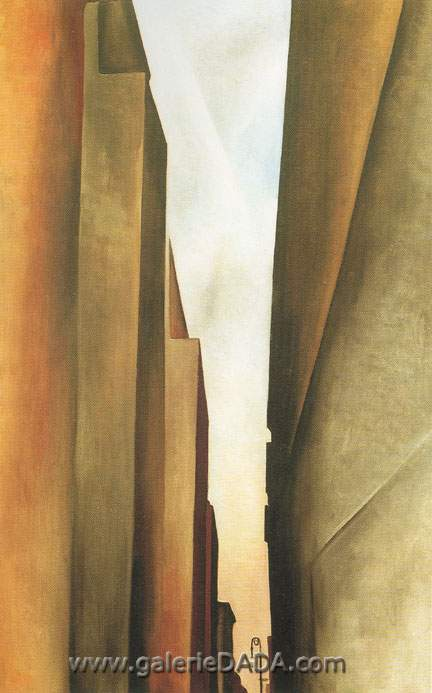 Georgia OKeeffe, Street New York No.1 Fine Art Reproduction Oil Painting