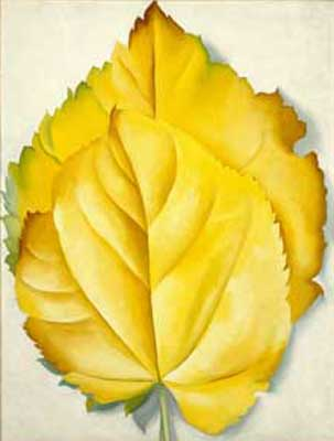 Georgia OKeeffe, Two Yellow Leaves Fine Art Reproduction Oil Painting
