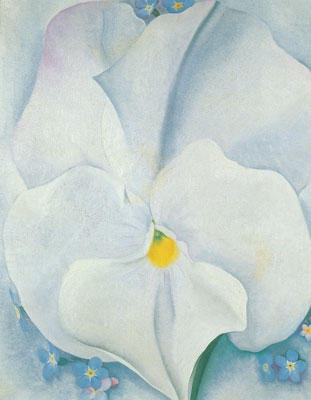 Georgia Okeeffe, White Pansy Fine Art Reproduction Oil Painting