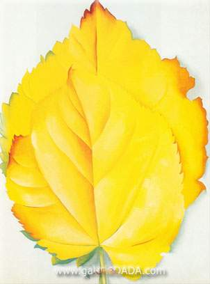 Georgia OKeeffe, Yellow Leaves Fine Art Reproduction Oil Painting