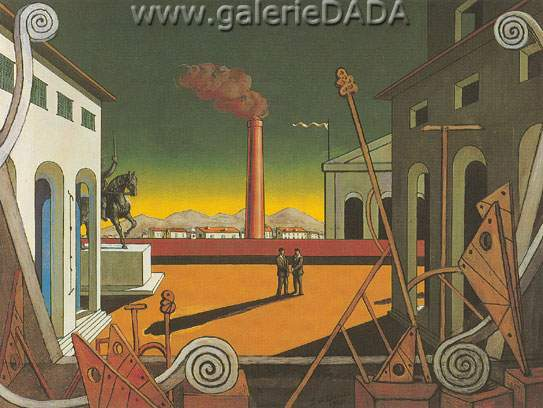 Georgio de Chirico, The Great Game Fine Art Reproduction Oil Painting