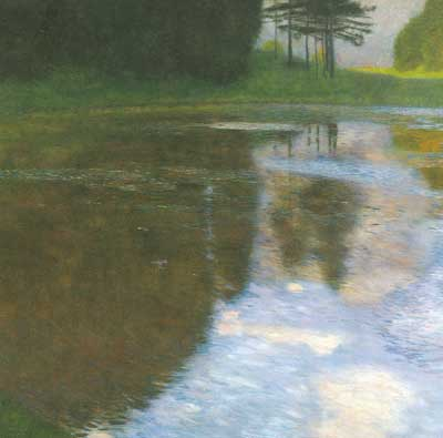 Gustave Klimt, A Morning by the Pond Fine Art Reproduction Oil Painting