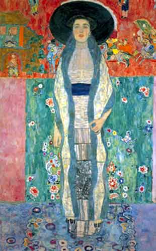 Gustave Klimt, Portrait of Adele Bloch-Bauer (2) Fine Art Reproduction Oil Painting