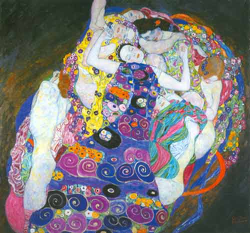 Gustave Klimt, The Maiden Fine Art Reproduction Oil Painting