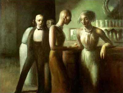 Guy Pene du Bois, Absinthe House, New Orleans Fine Art Reproduction Oil Painting