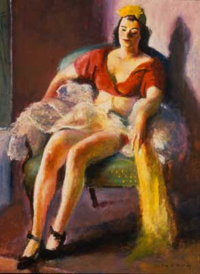 Guy Pene du Bois, Dancer Resting Fine Art Reproduction Oil Painting