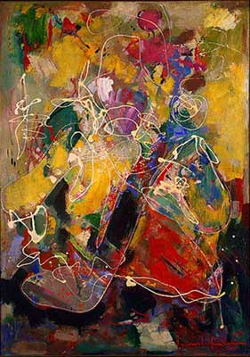 Hans Hofmann, Fantasia Fine Art Reproduction Oil Painting