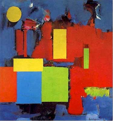 Hans Hofmann, Rising Moon Fine Art Reproduction Oil Painting