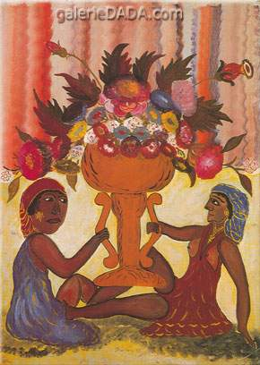 Hector Hyppolite, Two Priestesses with Vase Fine Art Reproduction Oil Painting