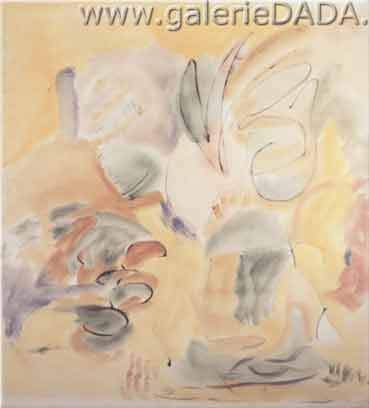 Helen Frankenthaler, Garden Maze Fine Art Reproduction Oil Painting