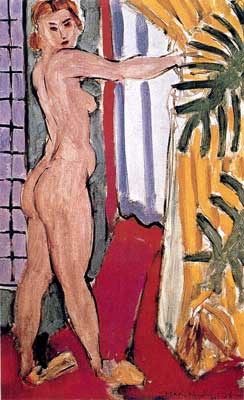 Henri Matisse, A Nude Standing Before an Open Door Fine Art Reproduction Oil Painting