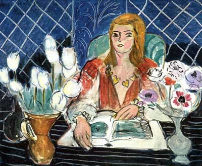 Henri Matisse, Annelies, White Tulips and Anemones Fine Art Reproduction Oil Painting