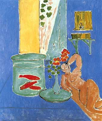 Henri Matisse, Goldfish with Scupture Fine Art Reproduction Oil Painting