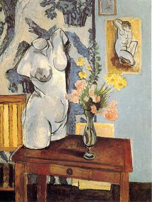 Henri Matisse, Greek Torso with Flowers Fine Art Reproduction Oil Painting