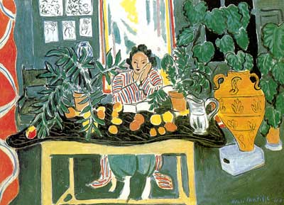 Henri Matisse, Interior with an Etruscan Vase Fine Art Reproduction Oil Painting