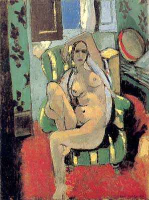 Henri Matisse, Odalisque with a Tambourine Fine Art Reproduction Oil Painting