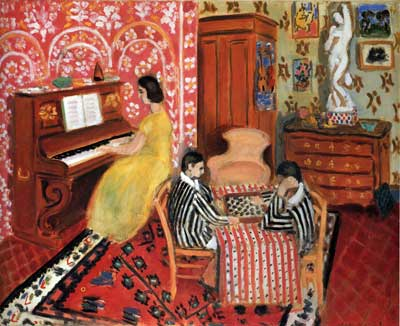 Henri Matisse, Pianist and Checker Players Fine Art Reproduction Oil Painting