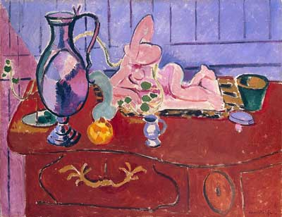 Henri Matisse, Pink Statuette and Jug Fine Art Reproduction Oil Painting