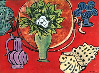Henri Matisse, Still Life With a Magnolia Fine Art Reproduction Oil Painting