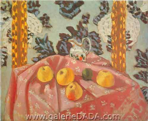 Henri Matisse, Still life with Apples on a Pink Cloth Fine Art Reproduction Oil Painting