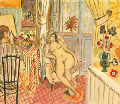 Henri Matisse, The Artist and his Model Fine Art Reproduction Oil Painting
