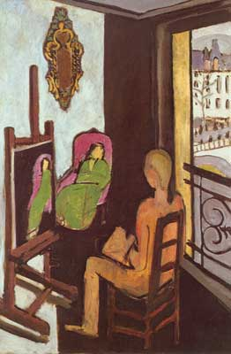 Henri Matisse, The Painter and his Model Fine Art Reproduction Oil Painting