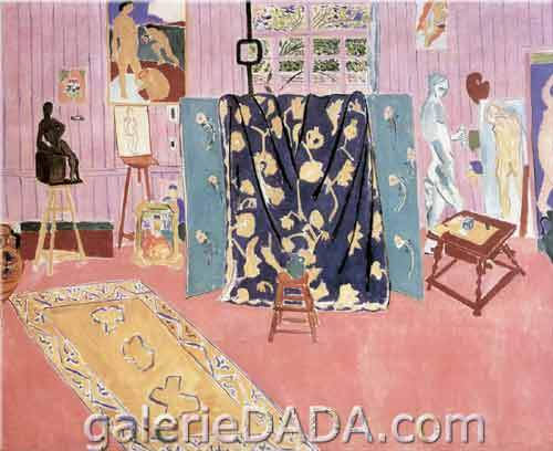 Henri Matisse, The Pink Studio Fine Art Reproduction Oil Painting