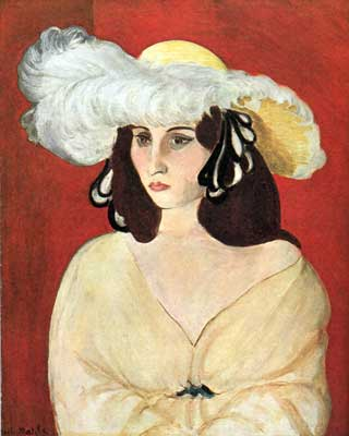 Henri Matisse, The White Feather Fine Art Reproduction Oil Painting