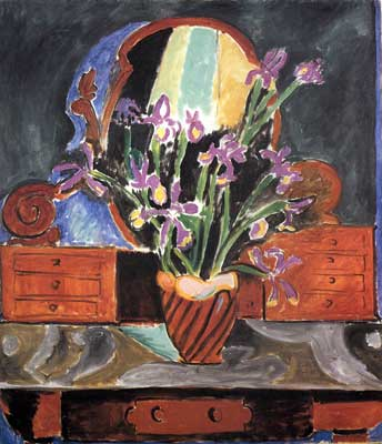 Henri Matisse, Vase with Iris Fine Art Reproduction Oil Painting