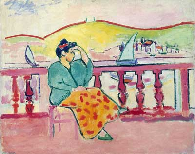 Henri Matisse, Woman on a Terrace Fine Art Reproduction Oil Painting