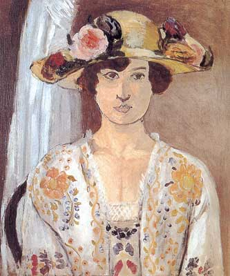 Henri Matisse, Woman with a Flowered Hat Fine Art Reproduction Oil Painting