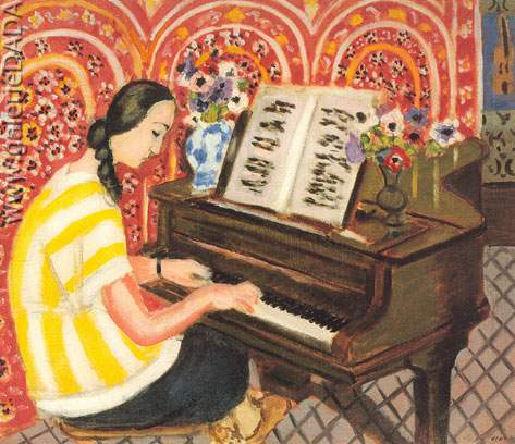 Henri Matisse, Young Girl at the Piano Fine Art Reproduction Oil Painting