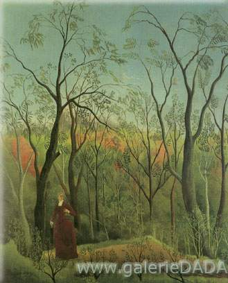 Henri Rousseau, A Walk in the Forest Fine Art Reproduction Oil Painting