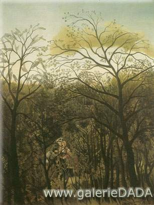 Henri Rousseau, Rendezvous in the Forest Fine Art Reproduction Oil Painting