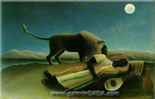 Henri Rousseau, The Sleeping Gypsy Fine Art Reproduction Oil Painting