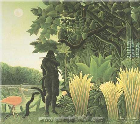 Henri Rousseau, The Snake Charmer Fine Art Reproduction Oil Painting