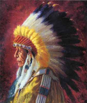 Henry Balink, Chief Running Bear Fine Art Reproduction Oil Painting
